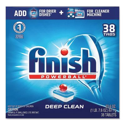 Reckitt Benckiser 20622 Finish Powerball Automatic Dishwasher Detergent, 38 Tabs / Box, Fresh Scent - 8 / Case