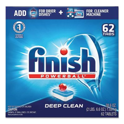 Reckitt Benckiser 20623 Finish Powerball Automatic Dishwasher Detergent, 62 Tabs / Box, Fresh Scent - 4 / Case