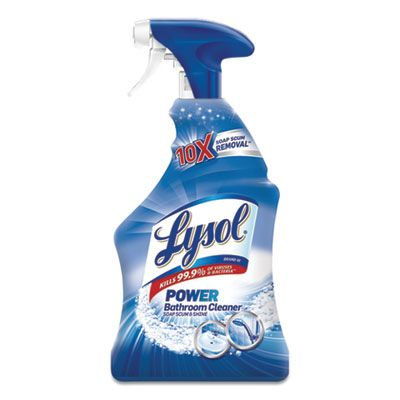 Reckitt Benckiser 2699 Lysol Disinfectant Bathroom Cleaner, Liquid, Island Breeze Scent, 32 oz Spray Bottle - 12 / Case