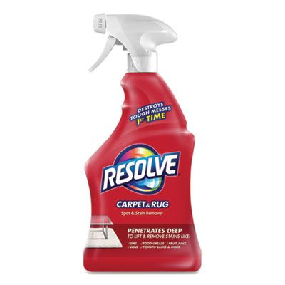 Reckitt Benckiser 601 Resolve Carpet & Rug Spot & Stain Remover, Triple Oxi Advanced, 22 oz Spray Bottle - 12 / Case