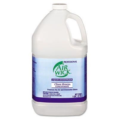 Reckitt Benckiser 6732 Professional Air Wick Liquid Deodorizer, Concentrate, Clean Breeze Scent, 1 Gallon Bottle - 4 / Case