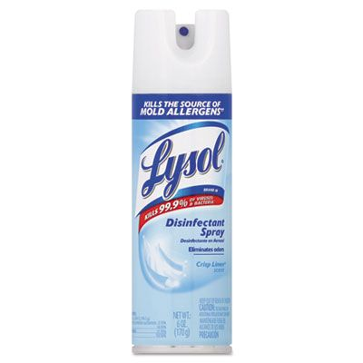 Reckitt Benckiser 74185 Lysol Disinfectant Spray, Clean Linen Scent, 6 oz Aerosol - 12 / Case