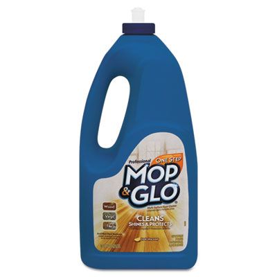 Reckitt Benckiser 74297 Mop & Glo Floor Shine Cleaner, 64 oz, Lemon Scent - 6 / Case