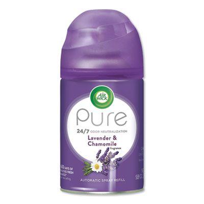 Reckitt Benckiser 77961 Air Wick Pure Air Freshener Spray for Freshmatic Automatic Dispenser, Lavender & Chamomile Scent, 5.89 oz Aerosol - 6 / Case