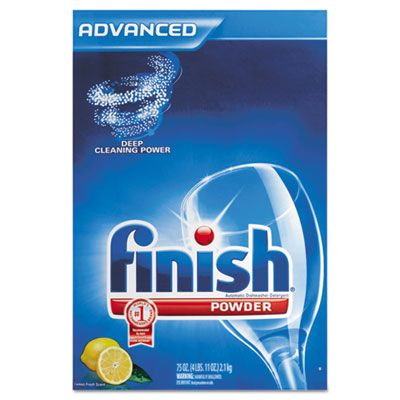 Reckitt Benckiser 78234 Finish Automatic Dishwasher Detergent Powder, Lemon Scent, 75 oz Box - 6 / Case