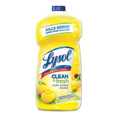Reckitt Benckiser 78626 Lysol Clean & Fresh Multi-Surface Cleaner, Sparkling Lemon & Sunflower Essence Scent, 40 oz Bottle - 9 / Case