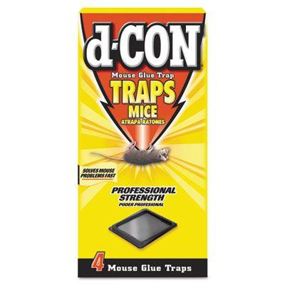 Reckitt Benckiser 78642 d-CON Mouse Glue Traps, Plastic - 48 / Case