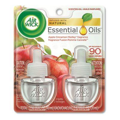 Reckitt Benckiser 80420 Air Wick Scented Oil Refill, Apple Cinnamon Scent, 0.67 oz - 12 / Case