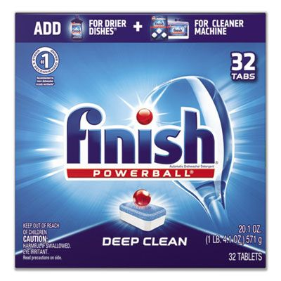 Reckitt Benckiser 81049 Finish Powerball Automatic Dishwasher Detergent, 32 Tabs / Box - 8 / Case