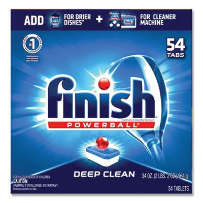 Reckitt Benckiser 81158 Finish Powerball Deep Clean All-in-1 Automatic Dishwasher Detergent, Fresh Scent, 54 Tabs / Box - 4 / Case