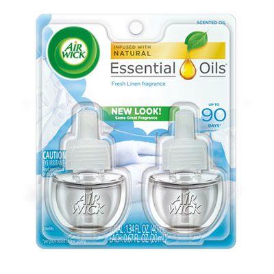 Reckitt Benckiser 82291 Air Wick Scented Oil Refill, Fresh Linen Scent, 0.67 oz, 2 / Pack - 6 / Case