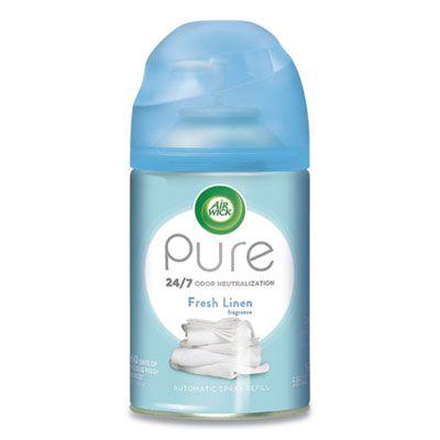 Reckitt Benckiser 82314 Air Wick Pure Air Freshener Spray for Freshmatic Automatic Dispenser, Fresh Linen Scent, 5.89 oz Aerosol - 6 / Case