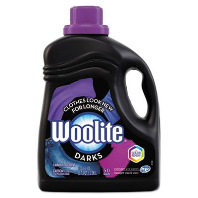 Reckitt Benckiser 83768 Woolite Darks Laundry Detergent Liquid, Midnight Breeze Scent, 100 oz Bottle - 4 / Case