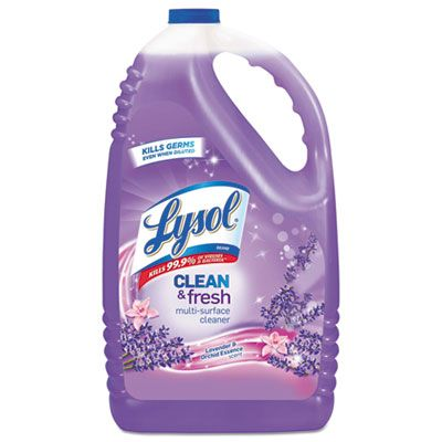 Reckitt Benckiser 88786 Lysol Clean & Fresh Multi-Surface Cleaner, Lavender & Orchid Essence Scent, 144 oz Bottle - 4 / Case