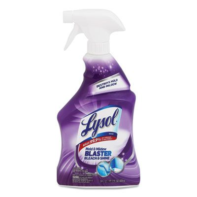 Reckitt Benckiser 89953 Lysol Mold & Mildew Remover with Bleach, 28 oz Spray Bottle - 9 / Case
