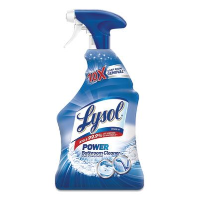 Reckitt Benckiser 90036 Lysol Disinfectant Bathroom Cleaner Spray, Island Breeze, 22 oz Bottle - 6 / Case
