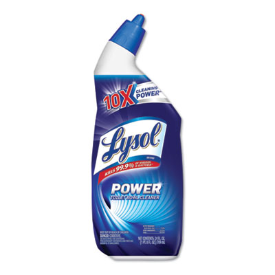 Reckitt Benckiser 98012 Lysol Power Disinfectant Toilet Bowl Cleaner, Wintergreen, 24 oz Bottle - 9 / Case