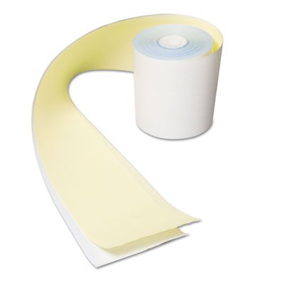 "AmerCareRoyal CR2300 Register Rolls, No Carbon, 3"" x 80', White / Yellow - 30 / Case"
