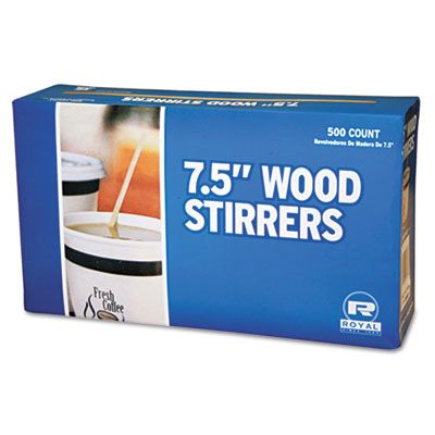"AmerCareRoyal R825 7.5"" Wood Coffee Stirrers - 5000 / Case"