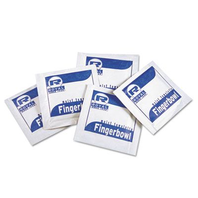AmerCareRoyal RF1MB Moist Towelettes, Lemon Scented, Individually Wrapped - 1000 / Case