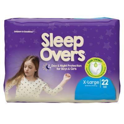 First Quality SLP05303 Sleep Overs Absorbent Overnight Underwear, Youth Unisex, X-Large (85 to 140 lbs), Heavy Absorbency - 88 / Case