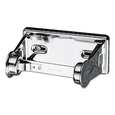 "San Jamar R200XC Locking Standard Toilet Paper Roll Dispenser, 6"" x 4-1/2"" x 2-3/4"", Chrome - 1 / Case"