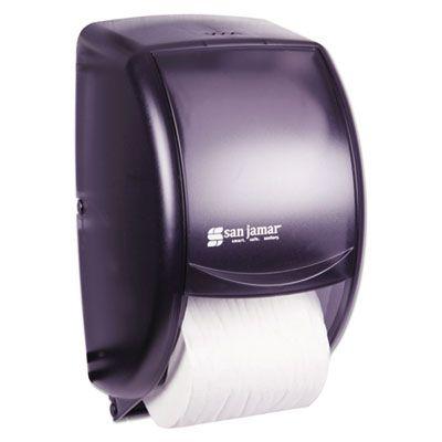 "San Jamar R3500TBK Duett 2-Roll Standard Toilet Paper Dispenser, 7-1/2"" x 7"" x 12-3/4"", Black Pearl - 1 / Case"