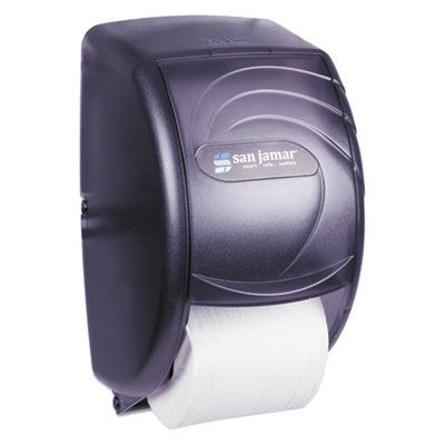 San Jamar R3590TBK Duett Dispenser for Standard Roll Toilet Paper - 1 / Case