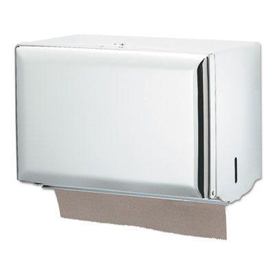 San Jamar T1800WH Dispenser for Singlefold Paper Hand Towels, Steel, White - 1 / Case