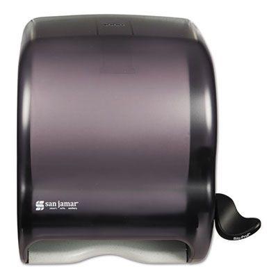 "San Jamar T950TBK Element Lever Roll Paper Hand Towel Dispenser, 12-1/2"" x 8-1/2"" x 12-3/4"", Black - 1 / Case"