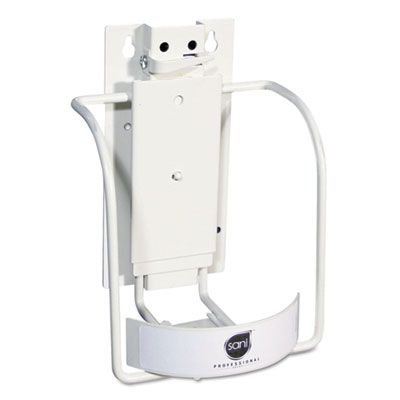 Sani P010801 Universal 3-in-1 Sani-Bracket, Plastic / Vinyl-Coated Wire, White - 1 / Case