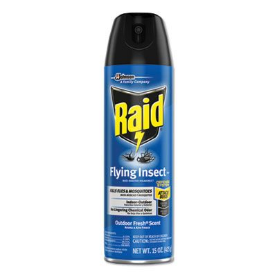 SC Johnson 300816 Raid Flying Insect Killer, 15 oz Aerosol Can - 12 / Case