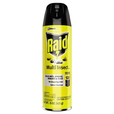 SC Johnson 300819 Raid Flying Insect Killer, 15 oz Aerosol Can - 12 / Case
