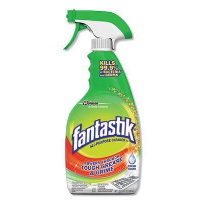 SC Johnson 306387 Fantastik All-Purpose Cleaner, Fresh Scent, 32 oz Spray Bottle - 8 / Case