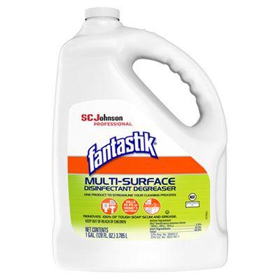 SC Johnson 311930 Fantastik Multi-Surface Degreaser, Disinfectant, Sanitizer, Pleasant Scent, 1 Gallon Bottle - 4 / Case