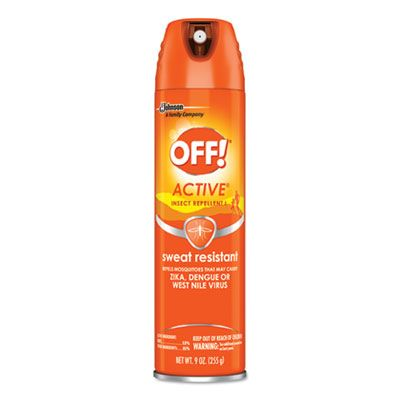 SC Johnson 611079 OFF! Active Insect Repellent Spray, 6 oz Aerosol Can - 12 / Case