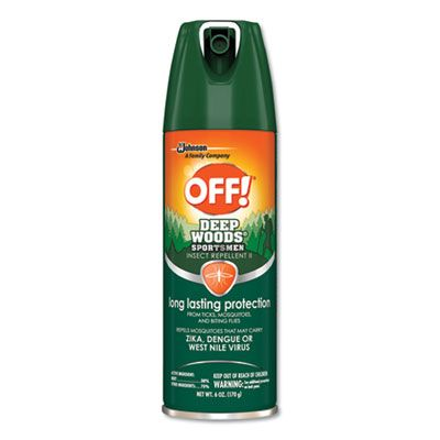 SC Johnson 629374 OFF! Deep Woods Sportsmen Insect Repellent Spray, 6 oz Aerosol Can - 12 / Case