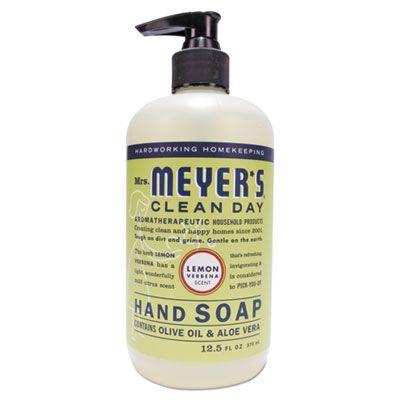 SC Johnson 651321 Mrs. Meyer's Clean Day Liquid Hand Soap, Lemon Scent, 12.5 oz Bottle - 6 / Case