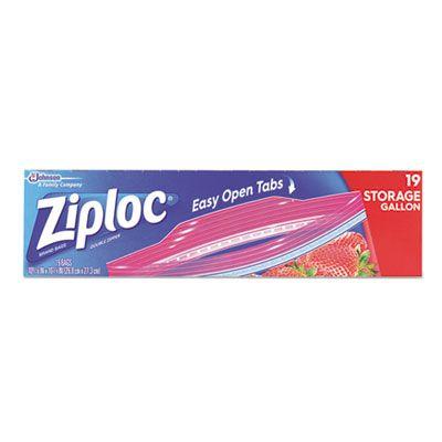 SC Johnson 664438 Ziploc Gallon Bags, Double Zipper, Clear - 228 / Case