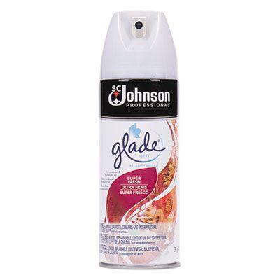 SC Johnson 682262 Glade Air Freshener Spray, Super Fresh Scent, 13.8 oz Aerosol - 12 / Case