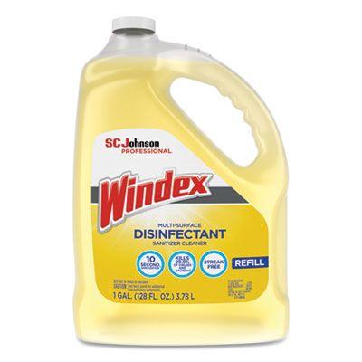 SC Johnson 682265 Windex Multi-Surface Disinfectant Sanitizer Cleaner, Citrus Scent, 1 Gallon Bottle - 4 / Case