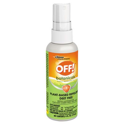 SC Johnson 694971 OFF! Botanicals Insect Repellent Spray, 4 oz Bottle - 8 / Case