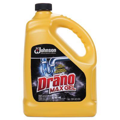 SC Johnson 696642 Drano MaxGel Clog Remover, Bleach Scent, 1 Gallon Bottle - 4 / Case