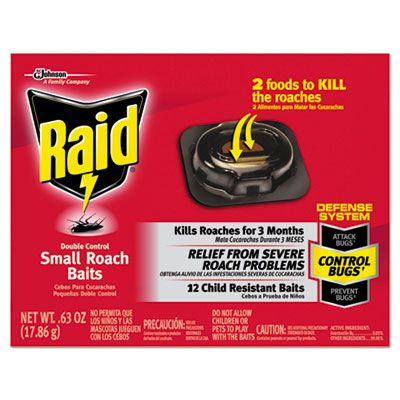 SC Johnson 697324 Raid Roach Baits, 0.63 oz - 12 / Case