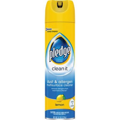 SC Johnson 697835 Pledge Clean It Dust & Allergen Multisurface Cleaner, 9.7 oz Spray Can - 6 / Case