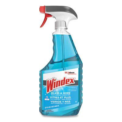 SC Johnson 322338 Windex Ammonia-D Glass Cleaner, Fresh Scent, 32 oz Spray Bottle - 8 / Case