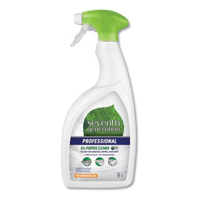 Seventh Generation 44723 Free & Clear All Purpose Cleaner Spray, 32 oz Bottle - 8 / Case