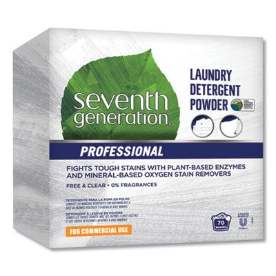 Seventh Generation 44734 Free & Clear Commercial Laundry Detergent Powder, Unscented, 112 oz Box - 1 / Case