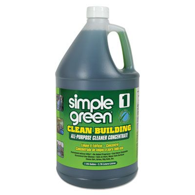 Simple Green 11001 Clean Building All-Purpose Cleaner Concentrate, 1 Gallon Bottle - 2 / Case