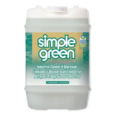 Simple Green 13006 Industrial Cleaner & Degreaser, 5 Gallon Refill Bottle - 1 / Case